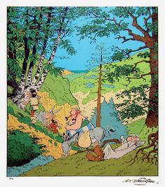 """Albert Uderzo """"In Spain, great master and mentor to all of us."""" KB"""