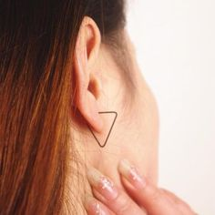 Geometric Triangle Open Copper Earr..