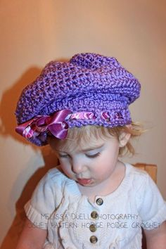 Lil' Miss Muffet Hat Pattern    Photo Credit:  Prop crocheted and photographed by Melissa Duell Photography & Photography Props  https://www.facebook.com/MelissaDuellPhotography