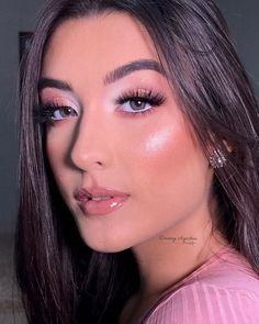 Makeup Looks For Brown Eyes, Makeup Eye Looks, Skin Makeup, Beauty Makeup, Hair Beauty, Makeup Tips, Glam Makeup Look, Cute Makeup, Simple Makeup