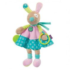 Bunny Cuddle Friend - Fehn Toys: Bunny Cuddle Friend with teether attachedApprox in Length . Bunny Toys, Baby Online, Baby Boutique, Snuggles, Cuddling, Baby Gifts, Christmas Ornaments, Friends, Holiday Decor