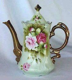 Lefton Green Heritage Coffee Pot