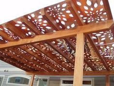 Build a pergola and cover it with these panels. Awesome shade and awesome look!! - #Pergolas