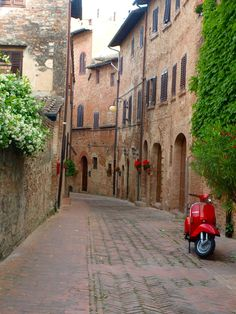 Certaldo, Tuscany, province of Florence, Italy.  # 3 get a vespa and travel around italy