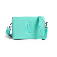 We LOVE the versatility of the Minibag! Wear it as a shoulder bag, a crossbody, a clutch, a wristlet, or around your waist! Initials Inc, Mini Bag, Aqua, Monogram, Shoulder Bag, My Style, Leather, Bags, Handbags