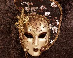 Máscara veneciana Hiberys por OriginalVeniceShop en Etsy