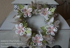 Wreath made with Botanical Builder from Stampin Up