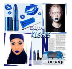 """""""Blue Kisses"""" by stacey-lynne ❤ liked on Polyvore featuring beauty, NYX, Marc by Marc Jacobs, Manic Panic, Lipstick Queen and Obsessive Compulsive Cosmetics"""