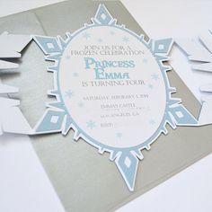 snowflake birthday invitation