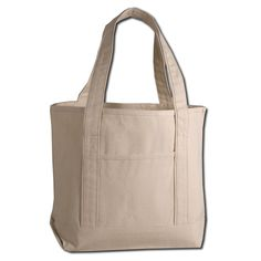 Heavy Canvas Small Deluxe Shopping Tote Bag | Tote bag, Shopping ...