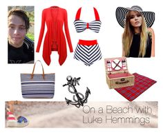 """""""On a Beach with Luke Hemmings"""" by kristynakik ❤ liked on Polyvore featuring Unique Vintage, Monsoon, Jeanne Simmons, WALL and Dsquared2"""