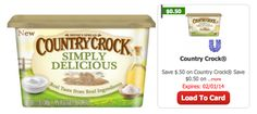 Country Crock Simply Delicious Only $0.79 at ShopRite! - http://www.livingrichwithcoupons.com/2014/01/country-crock-simply-delicious-0-79-shoprite.html