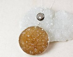 Choose Your Druzy 50/% OFF SALE Large Multi-Color Druzy Statement Necklace 925 Sterling Silver