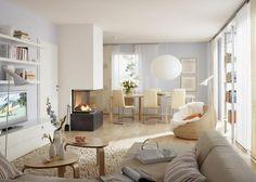 Eine klare Trennung von Wohn- und Essbereich und mehr Gemütlichkeit im gesamten Raum - das wünschte sich ein Paar aus Nürnberg für seine Neubauwohnung. Dies...