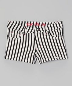 This Black   White Stripe Shorts - Toddler   Girls by U.S. Polo Assn. is db2ae988d6020