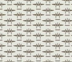 "P-38 - ""White 33"" fabric by jelliclestudio on Spoonflower - custom fabric"
