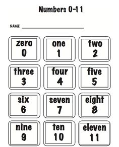 """REE MATH LESSON - """"Number Word Cards and Math Word Wall Cards"""" - Go to The Best of Teacher Entrepreneurs for this and hundreds of free lessons."""