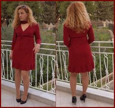 Red jersey dress with ruffle by liliv   Project   Sewing / Dresses   Kollabora #diy #kollabora #sewing #dress