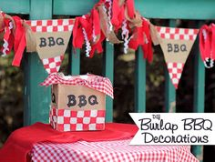 DIY Burlap BBQ Decorations | About Family Crafts