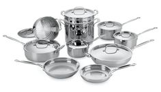 Cuisinart 77-17 Chef's Classic Stainless 17-Piece Cookware Set $207.55
