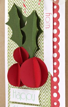 On the tenth day of Christmas, the Pazzles elves gave to me... If you watched yesterday's video you saw the 3D Holly from today's gift featured as one of the projects. I used it to create a card for the video, but today it is featured on a tag.