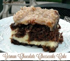 Mommy's Kitchen - Recipes From my Texas Kitchen!: German Chocolate Cheesecake Cake