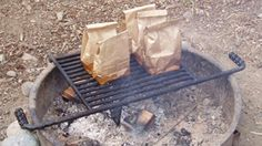 Cook a Hearty Campfire Breakfast in a Paper Bag - It works AND the leftover paper bags are great fire starters. Simply refold and store in a baggy until needed.