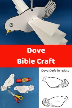 Easy to make kids Dove craft included free template and instructions. Ideal to use for the Baptism of Jesus Bible craft as the Holy Spirit comes down like a dove. Bible Study Crafts, Bible School Crafts, Bible Crafts For Kids, Sunday School Crafts, Preschool Bible Lessons, Bible Activities For Kids, Jesus Baptism Craft, Jesus Crafts, Jean Baptiste