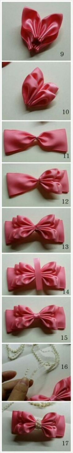 Discover thousands of images about Making Bows Ribbon Art, Diy Ribbon, Ribbon Crafts, Ribbon Bows, Ribbons, Making Hair Bows, Diy Hair Bows, Fabric Ribbon, Fabric Flowers