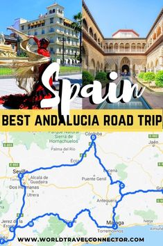 The ultimate southern Spain road trip itinerary: where to go in southern Spain, what to see in southern Spain & how to go around the south of Spain I Andalucia Road Trip I South of Spain itinerary I The best of south of Spain Spain Road Trip, Road Trip Europe, Europe Travel Guide, Road Trip Usa, Travel Guides, Travel Destinations, Travel Tips, Manado, Portugal Travel