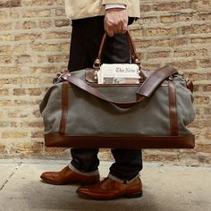 New Form Men's Duffel Bag, Brown by Salvatore Ferragamo at ...