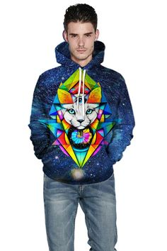 Bulk hoodies for printing with Star cat 3d digital print hoodie – menlivestyle Printed Hoodies, Hooded Sweater, Cargo Pants, Christmas Sweaters, Digital Prints, Printing, Graphic Sweatshirt, 3d, Stars