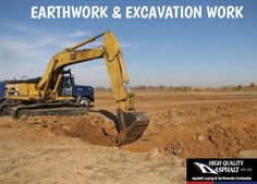 High Quality Asphalt is one stop solution for all of the construction works especially for the excavation & earthworks. Drainage Ditch, Civil Construction, Public, Top Soil, Moving Services, Civil Engineering, Health And Safety, Civilization, How To Remove