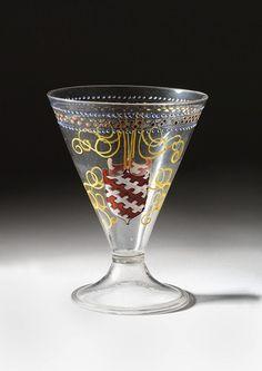 Beaker -- Early Century -- Venice -- The Victoria & Albert Museum, London. Wine Glass, Glass Art, Venetian Glass, Venice Glass, Antique Chairs, Drinking Glass, Victoria And Albert Museum, 16th Century, Pottery
