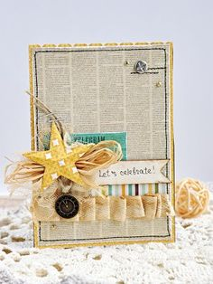 Postcards from scratch by DIY (A). Sketch # 13 | Diy (A) - only homemade. Leaflets, embroidery, origami, scrapbooking.