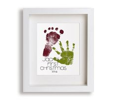Celebrate your little ones individuality with a customized hand and foot print. Perfect gift idea for new parents! (The image shown is an example of