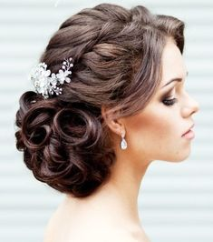 "You're about to peek through some of the most beautiful wedding updos and we think you are sure to find the perfect wedding hairstyle for your bridal look. You can see more where this gorgeous ""doo"" came from here."