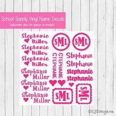 Sports labels Back to School Name labels Lunchbox labels Kids labels Vinyl Deca daycare labels School stickers Baseball labels