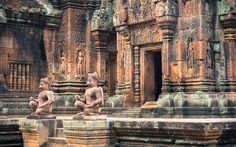 This amazingly beautiful Hindu temple built in the century is entirely dedicated to Shiva. Hindu Temple, Angkor Wat, Shiva, Temples, Cambodia, Explore, Adventure, World, Building