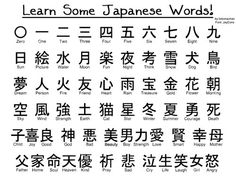 Kanji Japanese, Japanese Phrases, Study Japanese, Japanese Symbol, Japanese Culture, Learning Japanese, Japanese Alphabet Kanji, Kanji Alphabet, Japanese Colors