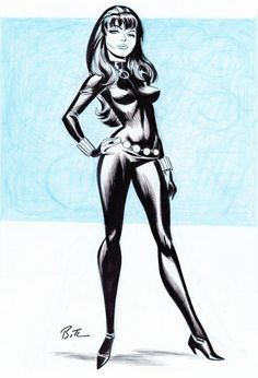 Fashion and Action: The Black Widow - Bruce Timm Art Gallery Bruce Timm, Comic Book Artists, Comic Artist, Comic Books Art, Marvel Comics, Marvel Comic Universe, Marvel Girls, Comics Girls, Harley Quinn