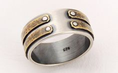 Hey, I found this really awesome Etsy listing at https://www.etsy.com/listing/193120479/iii-rustic-men-wedding-band-sterling