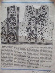 - Her Crochet Filet Crochet Charts, Crochet Stitches, Irish Crochet, Crochet Lace, Crochet Tops, Knitting Patterns, Crochet Patterns, Fillet Crochet, Crochet Cardigan