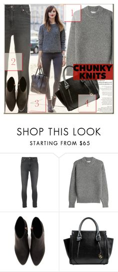 """""""Chunky Knit"""" by myfashionwardrobestyle ❤ liked on Polyvore featuring Levi's, DKNY, Alexander Wang, London Fog, contestentry, polyvoreeditorial, Poyvore and chunkyknits"""