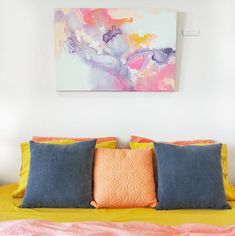 PRETTY PASTEL Pretty Pastel, Abstract Canvas, Contemporary Paintings, Cotton Canvas, Original Paintings, Throw Pillows, The Originals, House Styles, Color