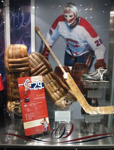 Goalie Tour of Montreal Canadiens' Centennial Exhibit in Hockey Hall of Fame – Tenders Lounge Hockey Goalie, Hockey Mom, Ice Hockey, Hockey Girls, Hockey Players, Montreal Canadiens, Funny Nba Memes, Ken Dryden, Maple Leafs Hockey
