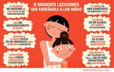 8 grandes lecciones que enseñarle a un niño