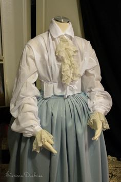 American Duchess: 1740s Riding Habit Waistcoat and Shirt