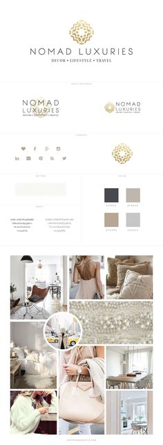 Custom Blog Design for Lifestyle Blog, Nomad Luxuries - logo design, wordpress theme, mood board inspiration, blog design idea, graphic design, branding