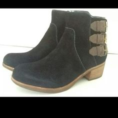 UGG Pure VOLTA booties sz 8 NWOB  $225 Black suede, inside zip closure, inside wool lining UGG Shoes Ankle Boots & Booties